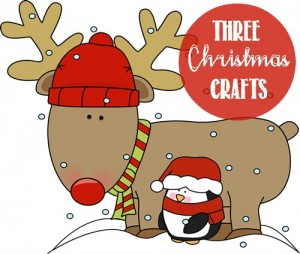 Here are three fun reindeer Christmas crafts to do with your kids.
