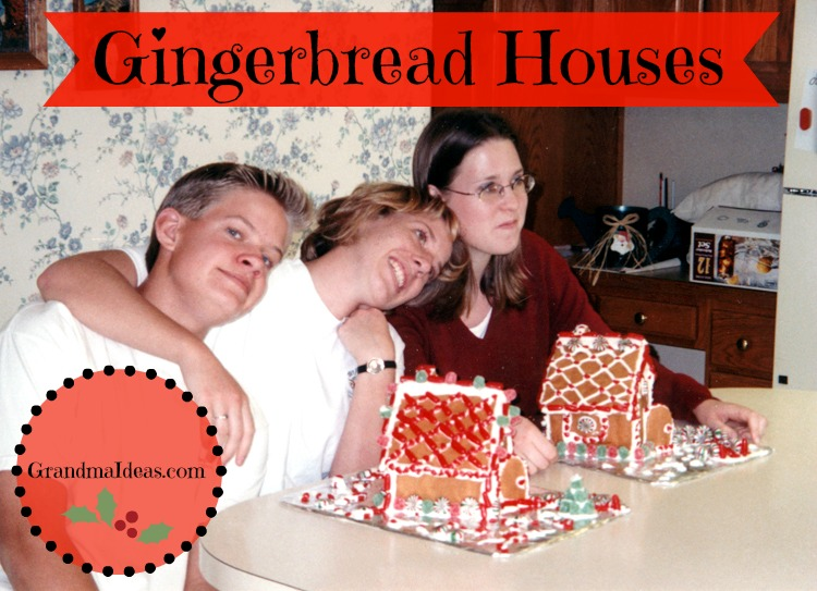Making gingerbread houses.