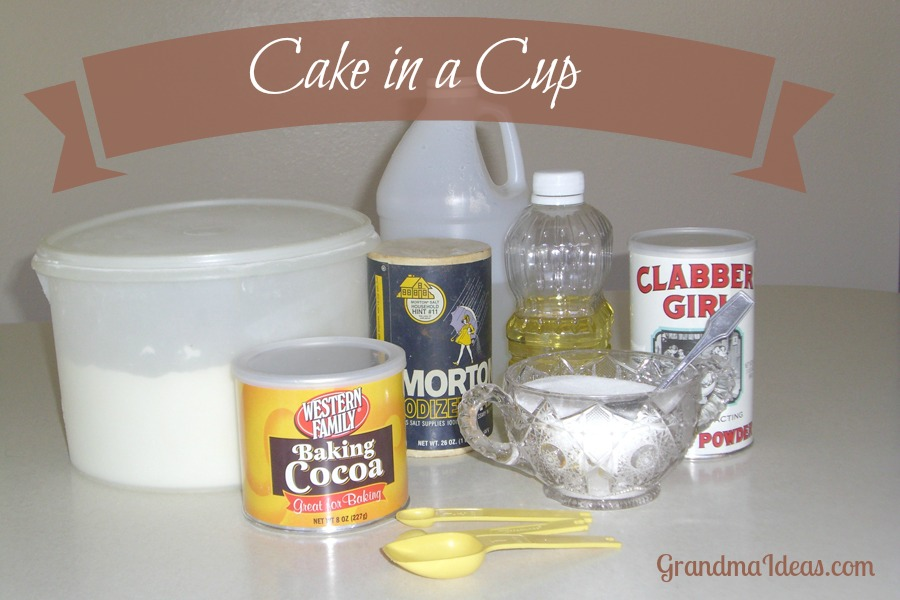 how to make cake in a cup easy