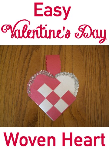 Make this easy woven heart for Valentine's Day GrandmaIdeas.com