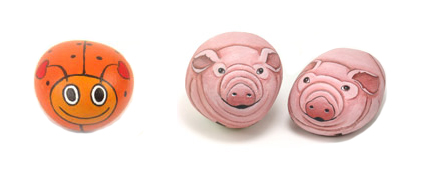 Have fun painting rocks like pigs or bugs!