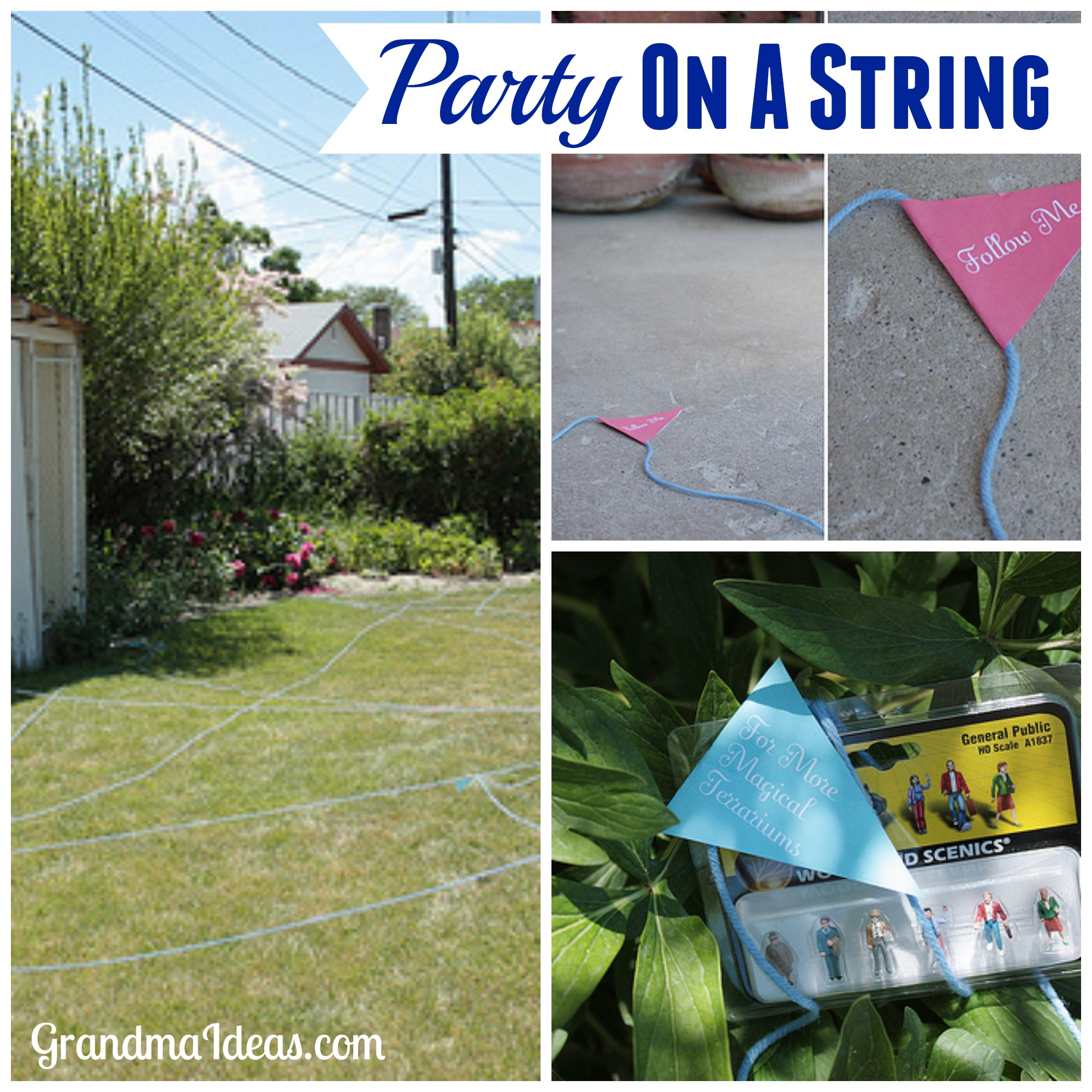 Party on a string is a fun activity -- especially for tween and teenaged kids. GrandmaIdes.com