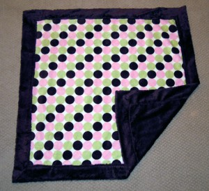 Use this free pattern to make this cute baby blanket with mitered corners Easy to make!.