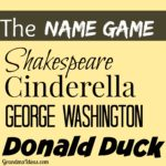 Play the Name Game