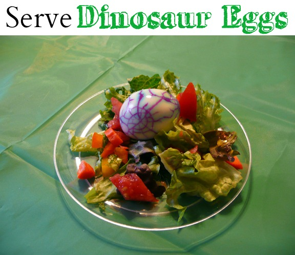 Serve dinosaur eggs at a dinosaur themed party or activity for kids.