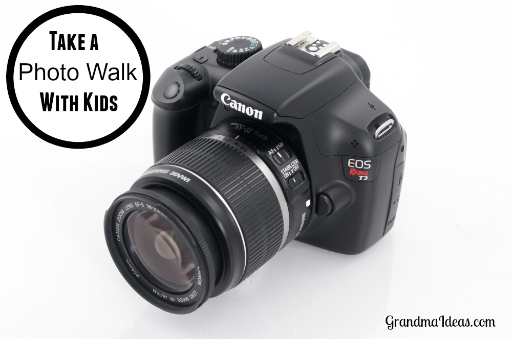 Take a photo walk with kids.