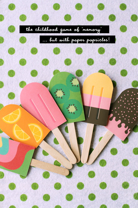 Do it yourself activities to do with grandchildren grandma ideas free printable for this darling popsicle matching game and much much more solutioingenieria Choice Image