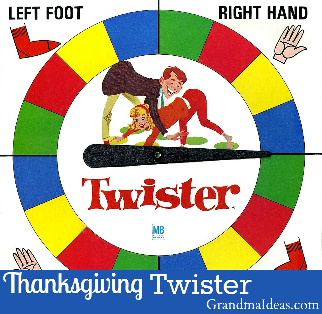 Play Thanksgiving Twister with your family after Thanksgiving dinner. GrandmaIdeas.com