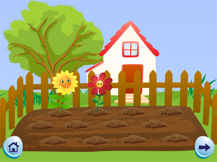 Grow Your Garden, an app for the iPhone and iPad, challenges children and helps them develop their math and their critical thinking skills.