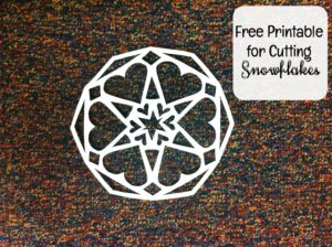 Here is a free printable for two snowflakes that have a heart design.
