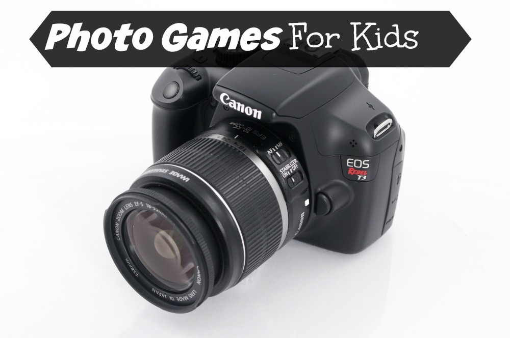Fun photo games to do with kids. Great ideas if you are giving your child a camera for Christmas. GrandmaIdeas.com