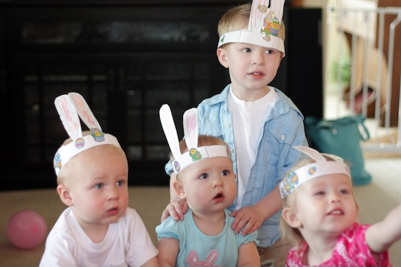 Make these cute Easter bunny ears for your kids.
