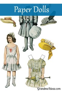 Girls will have fun cutting out and playing with these paper dolls.