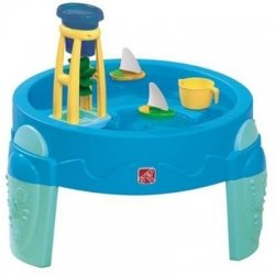 The Little Tikes Fountain Factory Water Table brings interactive water fun to your child and his or her friends. Designed to encourage STEM learning, this table features three water fountains and plumbing pipes that be rearranged for different designs.