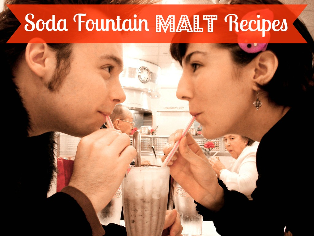 Three terrific recipes for making your own refreshing soda fountain malk drink!