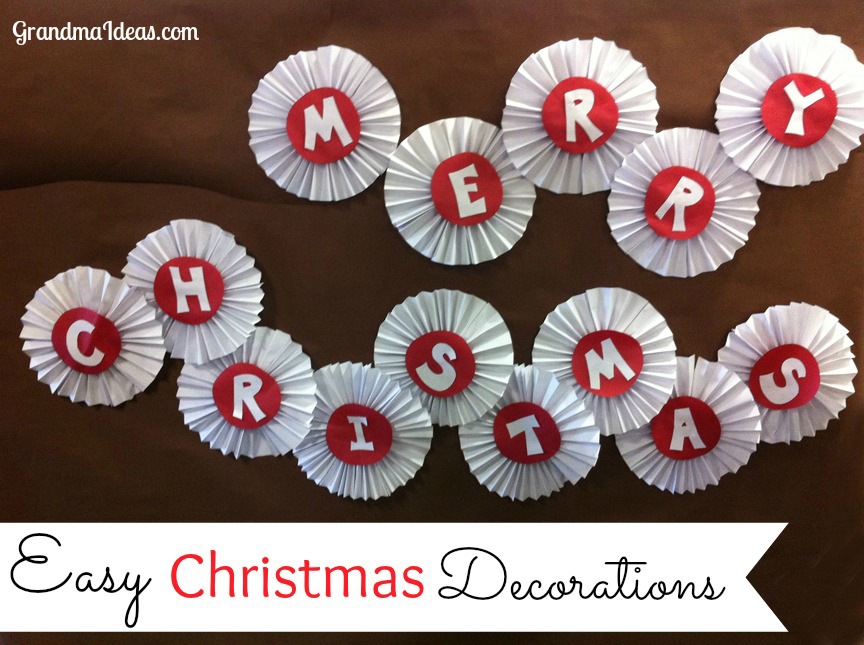 Easy Christmas Decorations to Make with Grandchildren - Grandma Ideas
