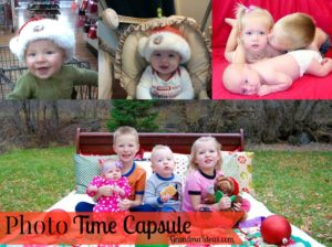 Make a photo time capsule with your kids. It's a great activity to do with them.