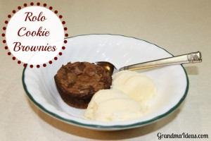 Rolo Cookie brownies are easy to make and YUMMY to eat!
