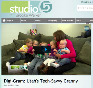 Grandma Ideas was featured on a session of the  Studio 5 TV show!