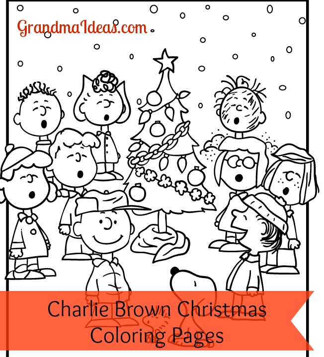 Charlie Brown Christmas coloring pages GrandmaIdeas.com