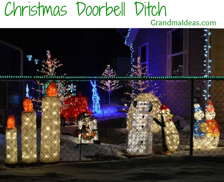 When driving around looking at Christmas lights, play 'Christmas lights doorbell ditch' where you leave a doorknob hanger complimenting what wonderful lights the house has.