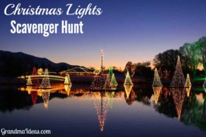 Add some fun to your holidays by doing a Christmas lights scavenger hunt with your kids. Free printable.