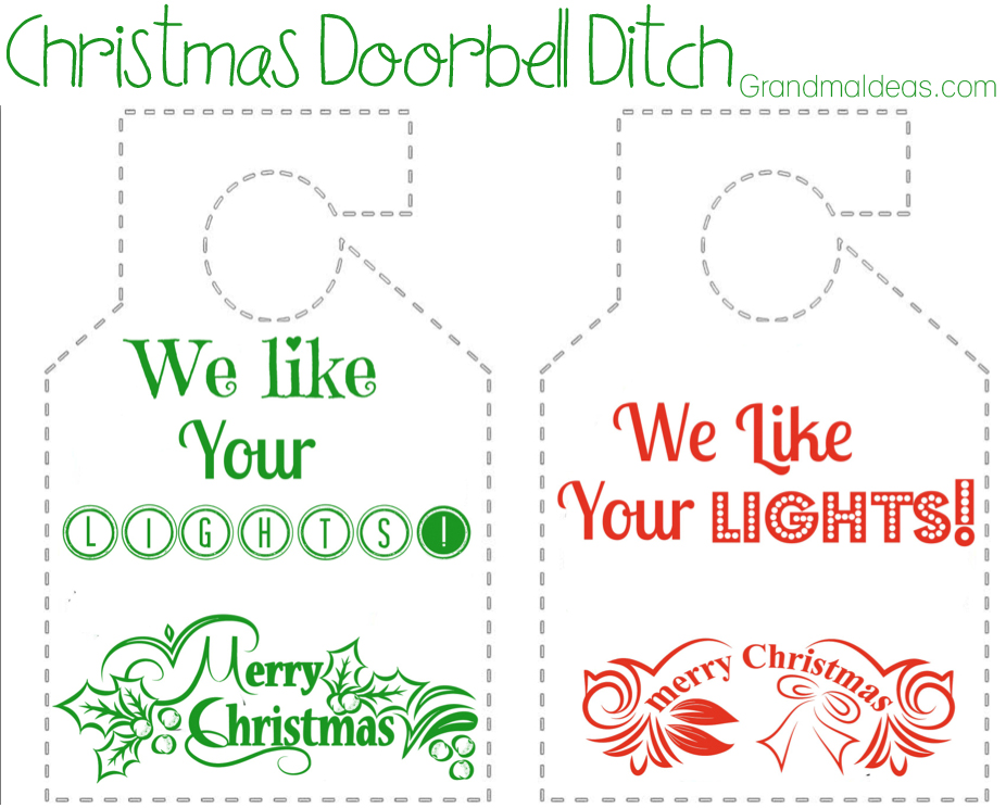 we like your lights door hanger on Grandma Ideas