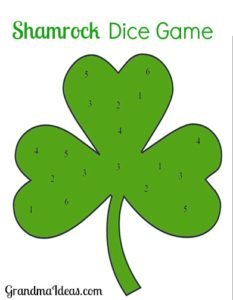 The Shamrock Dice Game is fun for the whole family to play.