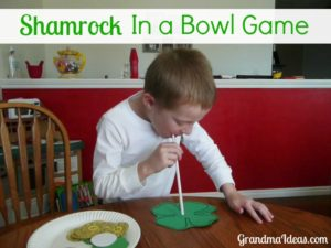 The Shamrock in a bowl game is a challenging game to play at a St. Patrick's Day party with your kids.