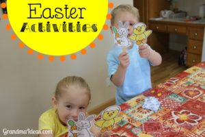 Try these 4 fun Easter activities with your kids. Free printables for Easter puppets and bunny masks.