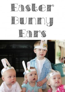Kids love making and wearing these fun Easter bunny ears.
