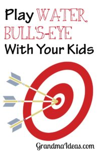 Water bull's-eye is a great game to keep kids busy, happy, and cool during summertime.