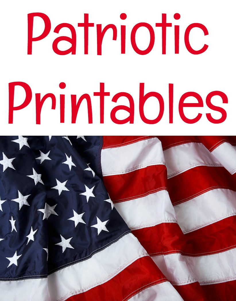 Here are some free patriotic printables for your craft or DIY project.