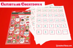 This Christmas countdown helps children learn their numbers -- as they anxiously await Christmas Day.