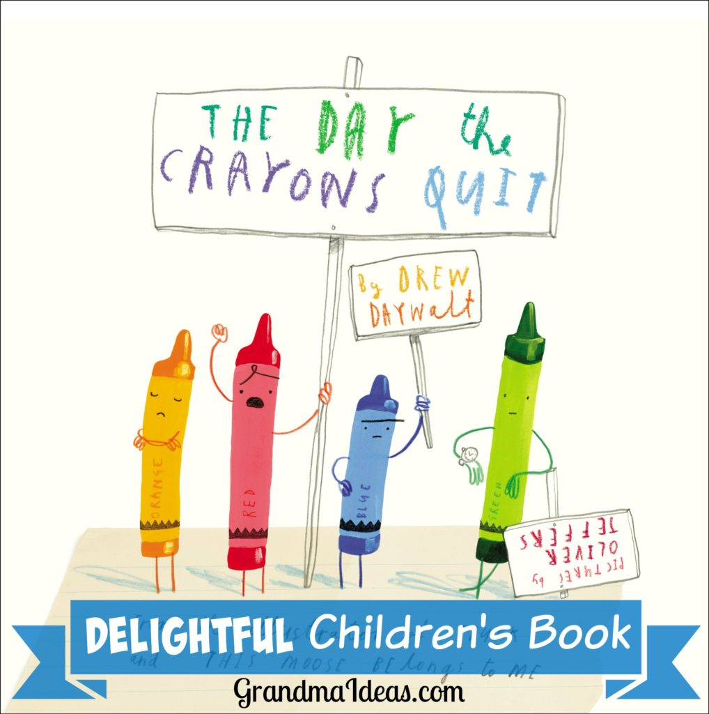 The Day the Crayons Quit by Drew Daywalt is a funny children's picture book. GrandmaIdeas.com