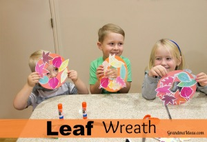Make this leaf wreath with kids.