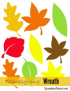 Make this Thanksgiving leaf wreath with the kids. GrandmaIdeas.com