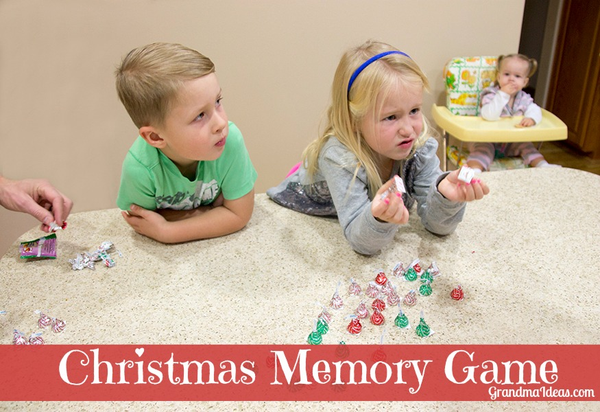 Playing the Christmas memory game. GrandmaIdeas.com
