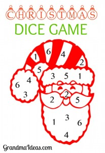 This Christmas dice game is fun to play at family holiday get togethers.