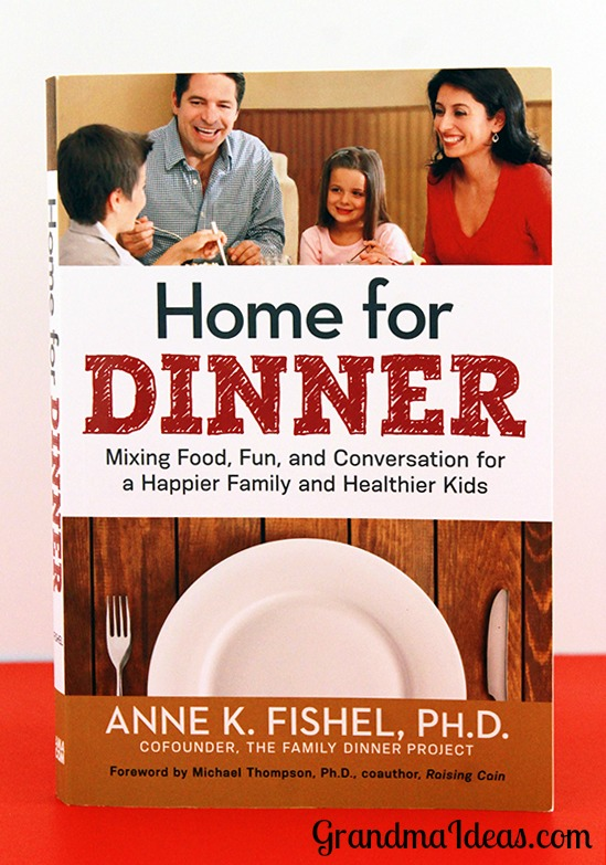 Home for Dinner by Anne Fishel is a great book that explains the benefits of having mealtimes together as families. GranmdaIdeas.com