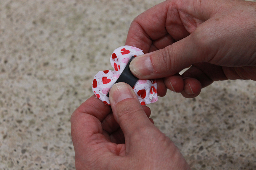 Leave about 1 inch open so that you can stuff your heart. GrandmaIdeas.com