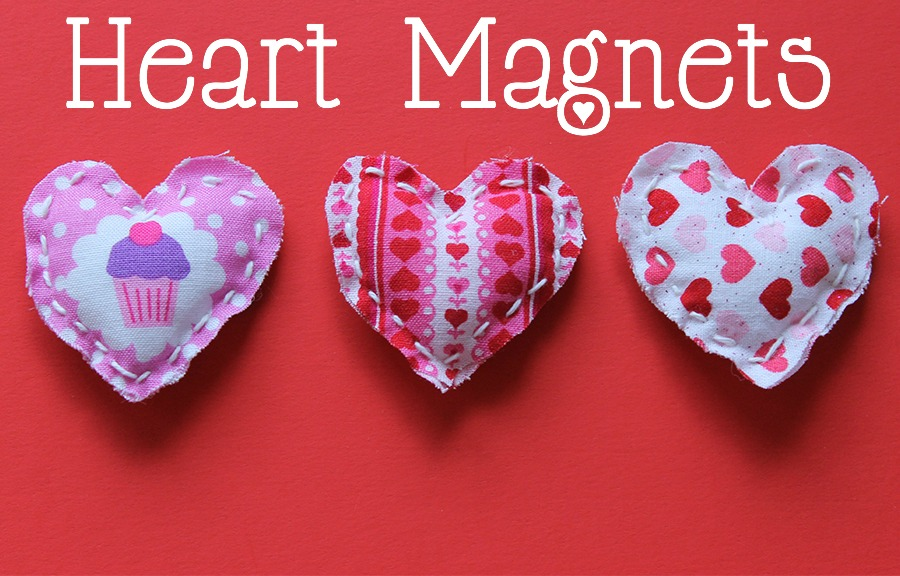 Make these Valentine's Day heart magnets in under 15 minutes! GrandmaIdeas.com