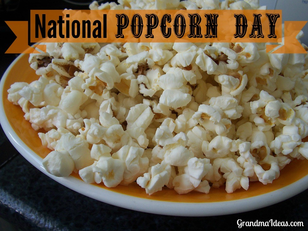 National Popcorn Day is January 19. Celebrate it with your kids by making some of these wonderful popcorn recipes. GrandmaIdeas.com
