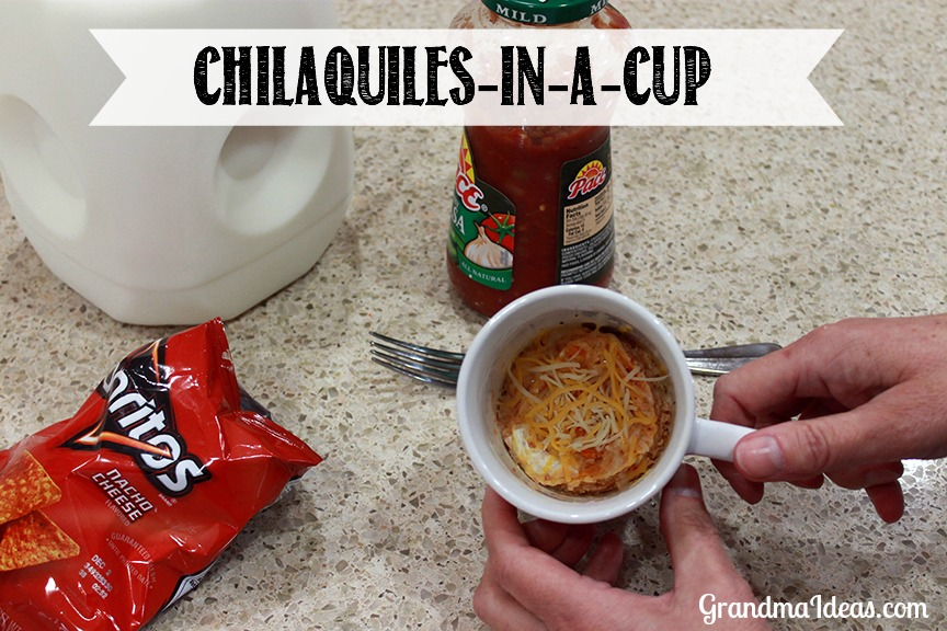 Make these Chilaquiles in a cup. GrandmaIdeas.com