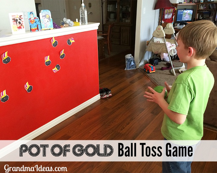 The Pot of Gold Ball Toss Game is a challenging and fun game for St. Patrick's Day!