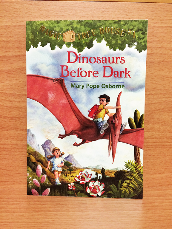 This is the first book in the Magic Tree House series. Great books -- especially for boys and reluctant readers.
