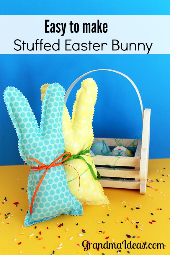 Stuffed Easter bunny that you can make in 15 minutes!