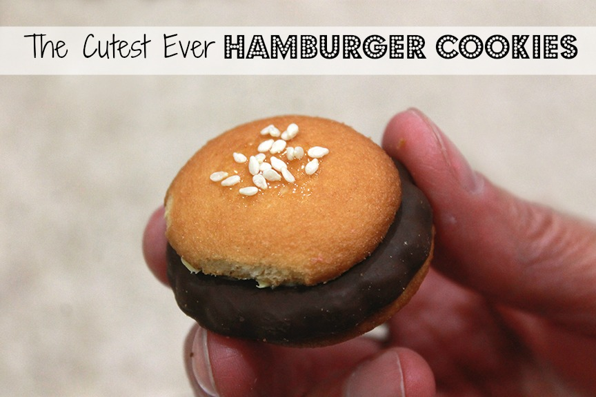 Learn how to make the cutest ever little hamburger cookies!
