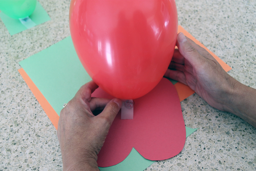 Kids will have fun during the summer making these balloon people.