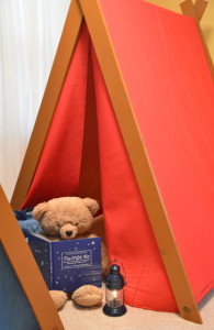 These are cute tents for indoor camping at grandma's house!